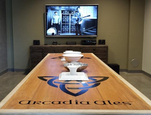 Cornerstone Technologies Installs Interactive Conference Room at Arcadia Ales